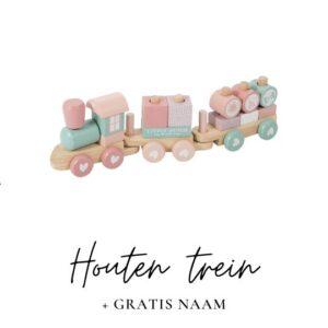 Little Dutch houten trein met naam