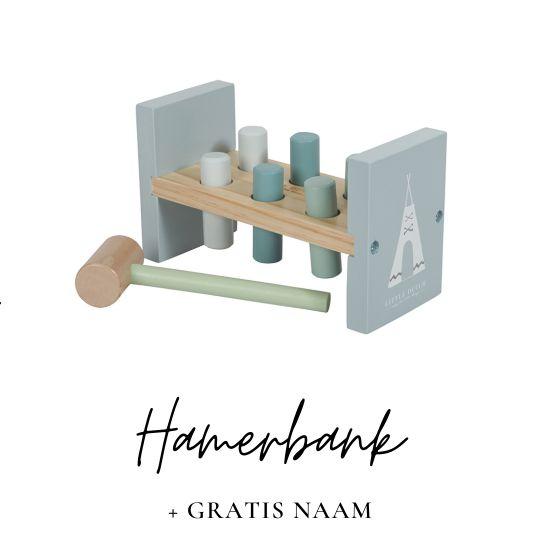 Little Dutch hamerbank met naam