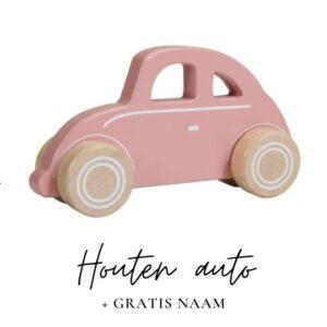 Little Dutch met naam houten auto
