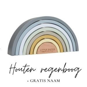 Little Dutch met naam regenboog