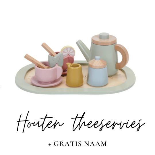 Little Dutch met naam houten theeservies