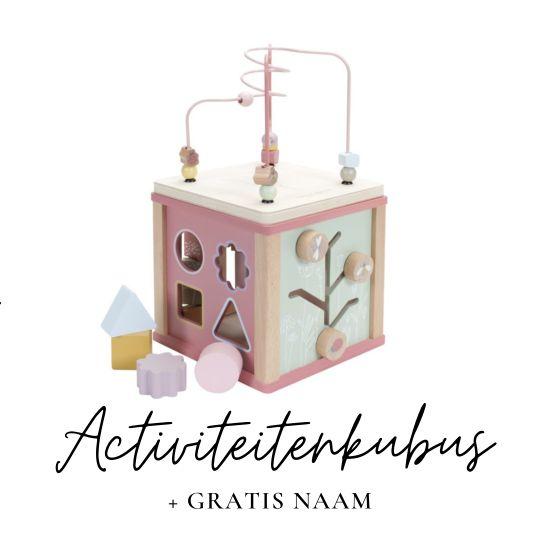 Little Dutch met naam activiteitenkubus