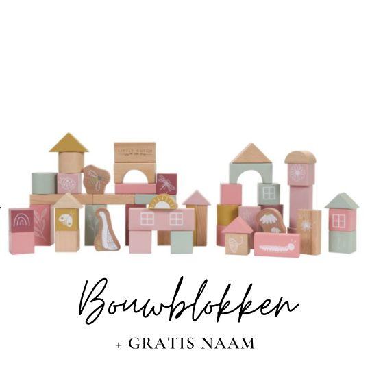 Little Dutch met naam bouwblokken