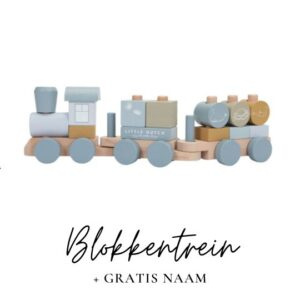 Little Dutch met naam blokkentrein