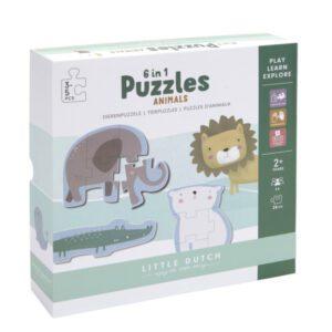 Little Dutch Legpuzzel dieren 6 stuks