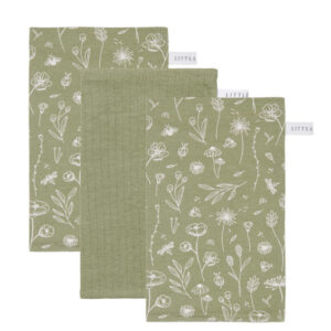 Little Dutch Washand - wild flowers Olive