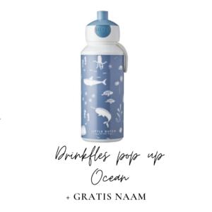Little Dutch Drinkfles pop-up 400 ml - Ocean