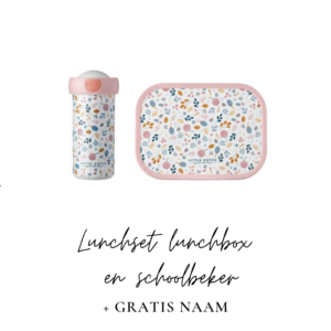 Lunchset Campus (schoolbeker + lunchbox) - spring flowers