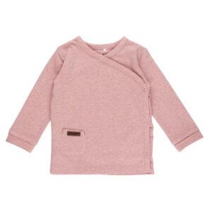 Overslag shirt 68 - Pink Melange
